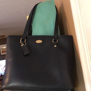 Navy Coach carry all tote